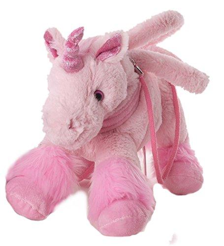 Inware 6213 - Handtasche Einhorn, 30 cm, pink, Umhängetasche