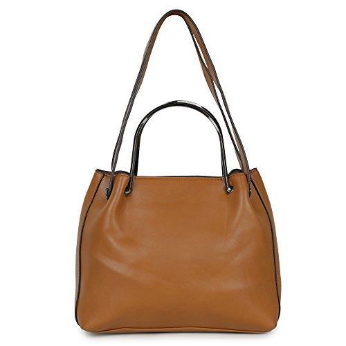 Butterflies Women Sling Bag (Brown) (BNS-B-7645#BN)