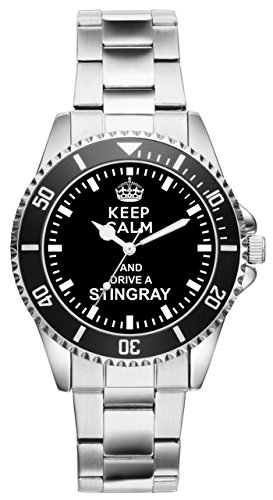 Geschenk für Stingray Corvette Oldtimer Fans Fahrer Kiesenberg Uhr 1486 - Herren Echte Stingray