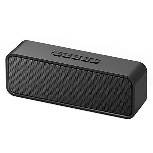 YMYJZ 4.2 Bluetooth-Lautsprecher, kabelloser Outdoor-Stereo-Lautsprecher Bass Dual-Driver mit UKW-Radio TWS- und TF-Steckplatz Freisprechen,Black