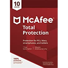 McAfee 2018 Total Protection | 10 Devices | PC/Mac/Android | Download