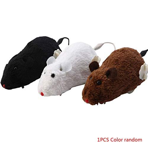 Carry stone Premium Qualität Wind-up Racing Maus Plüsch Haustier Maus Teaser Spielzeug Realistisch Schauen Laufende Mäuse Spielzeug Zufällige Farbe