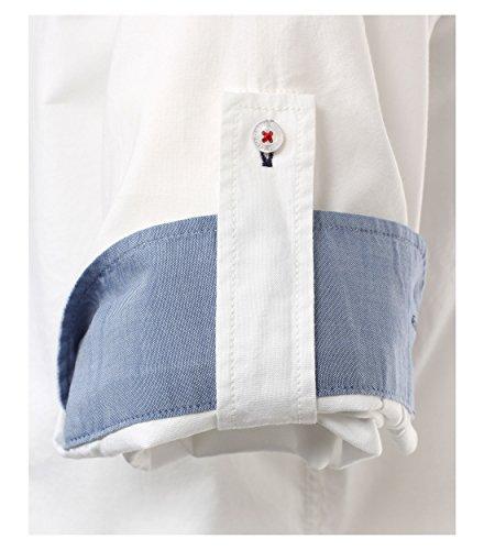 Michaelax-Fashion-Trade -  Camicia classiche  - Basic - Con bottoni  - Maniche lunghe  - Uomo Weiß (000)