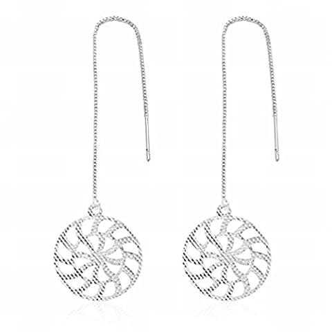 Petite Boucles D'oreilles Exquises Boucles D'oreilles Exquises à la Mode Cousu Rond Boucles D'oreilles Creuses Ladies / Stainless Steel / Anti-allergy / Silver Flashing,Comme