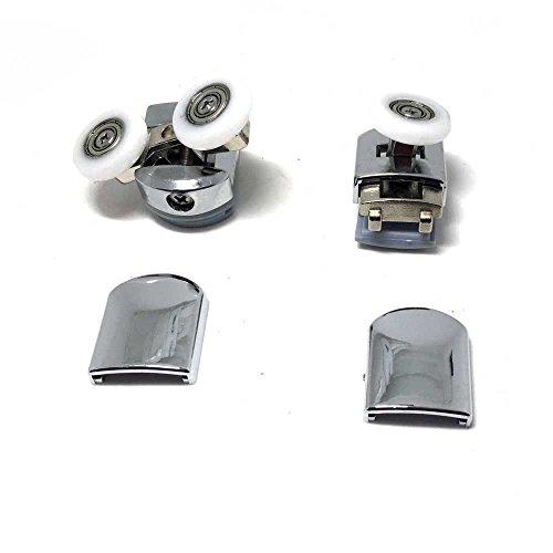 8x Teen Top & Bottom Duschtüren ROLLEN / Runners / Riemenscheiben / Räder Ersatzteile mit 25 mm Durchmesser