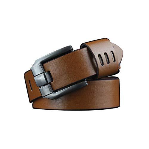 Irypulse Cinturón hombres Vintage Cuero de PU de metal giratoria para de hebilla lujo de alta calidad vintage Adecuado Para Jeans Ropa Trabajo Casual Formal Hombre Cinturones