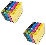 8 XL PREMIUM Druckerpatronen kompatibel für Epson T1291-T1294 (T1295), Stylus SX230, SX235W, SX420W, SX425W, SX430W, SX435W, SX438W, SX440W, SX445W, SX445WE, SX525WD, SX535WD, SX620FW, Office B42WD, BX305F, BX305FW, BX305FW Plus, BX320FW, BX525WD, BX535WD, BX625FWD, BX630FW, BX635FWD, BX925FWD, BX935FWD, WorkForce WF-7015, WF-7515, WF-7525, WF-3010DW, WF-3520DWF, WF-3530DTWF, WF-3540DTWF