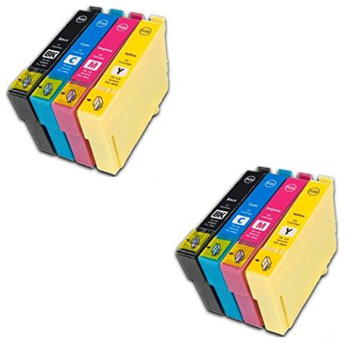 Preisvergleich Produktbild Prestige Cartridge 8 x Epson 27XL Tintenpatronen, schwarz/cyan/magenta/gelb
