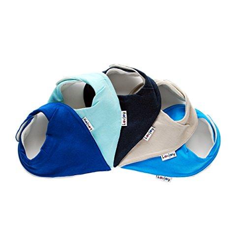 Lovjoy Bandana Baby Halstuch Lätzchen, Dreieckstucher, Für 0-3 Jahre, 5er Pack (Tints of Blue)  - Baby Für Bandana-lätzchen
