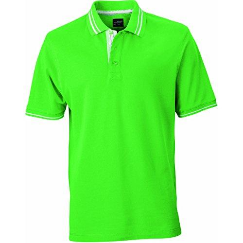 JAMES & NICHOLSON Herren Poloshirt, Einfarbig Grün