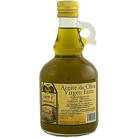 Aceite de Oliva Virgen Extra. Sierra de Guadalcanal 2016. Jarra. Cristal. Transparente. 500 CC