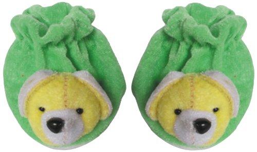 Baby Dreams Baby Booties-Animal faces (Green)