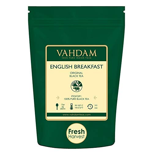 Original English Breakfast Black Tea Leaves, (200+ Cups) 454g | Strong, Rich & Aromatic | Loose Leaf Tea, World's Finest Black Tea Loose Leaf | Brew Hot, Iced or Kombucha Tea, FTGFOP1 Long Leaf Grade