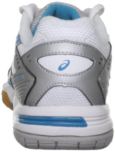 Asics Damen Gel Rocket W Gymnastikschuhe Silver/Aqua Blue/White