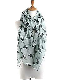 f4a9f298d72b9c ALIKEEY Halstücher Damen Pferd Print Pattern Lace Long Schal warmen Wrap  Schal 90cm*180cm