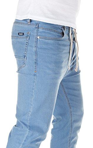 Yazubi Herren Jeans Ash - Bund und Saum mit Gummizug light blue (30032)