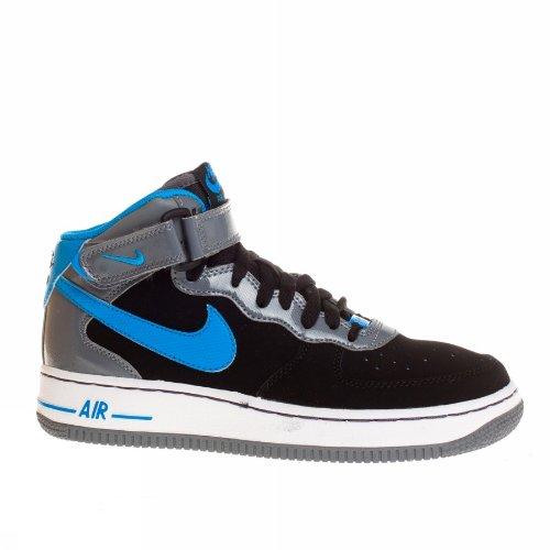 Nike Air Force One Mid Nero-Grigio-Azzurro
