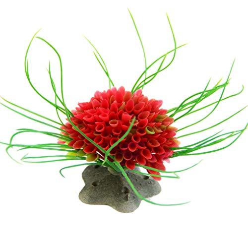 Rekkle Kunststoff künstliche Blume Aquarium Pflanze Wasser Landschaft Dekoration im Wasser Aquarium Ornament (Aquarium Sand Süßwasser-blau)