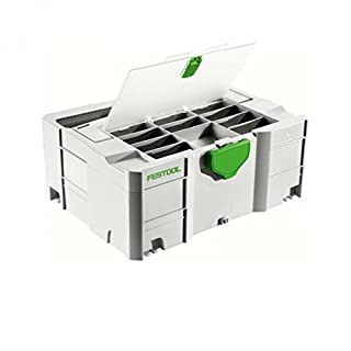 FESTOOL Systainer SYS 2 mit Deckelfach 396 x 296 x 157,2 mm, 1 Stück,497852