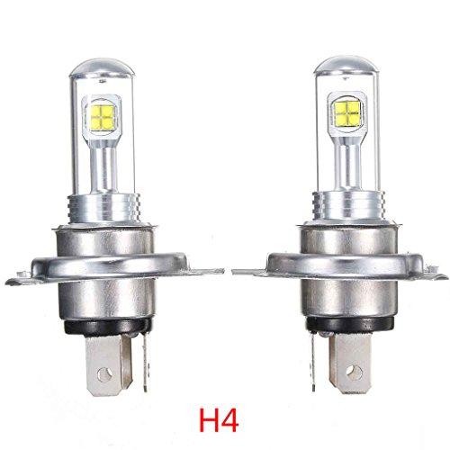 2ST H1 H7 H4 80W 6500K LED-wasserdichte Auto-Scheinwerfer-Birnen Abblendlicht Nebelscheinwerfer Birnen hohe Leistung Lauf Lampen-Birnen Regard