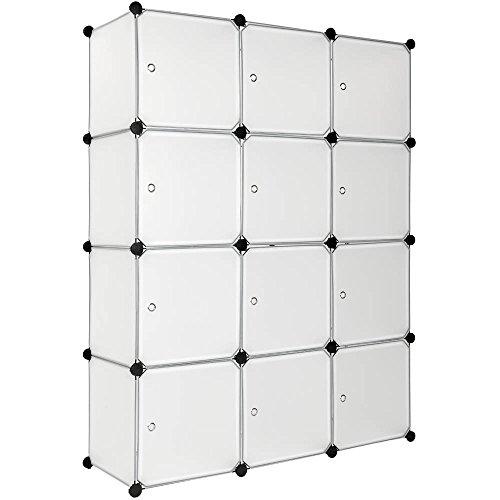 TecTake Steckregal Kleiderschrank Schrank Regal Kunststoff - Diverse Farben - (Weiß   Nr. 401577)