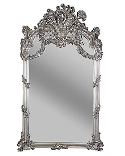 XXL Barock Spiegel Silber 130x240cm Ganzkörperspiegel Standspiegel Wandspiegel sax016 Palazzo Exklusiv