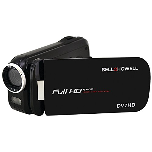 Bell+Howell Slice2 DV7HD-BK Full 1080p HD Camcorder with Touchscreen and 60x Zoom (Black)
