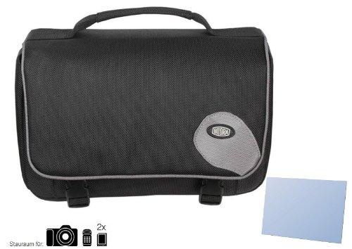 Zubehör Starterset für Sony Alpha 58 (SLT-A58) - Schicke Kamera Tasche - JETZT MIT PASSGENAUER equipster Displayschutzfolie (A58 Tasche Für Kamera Sony)