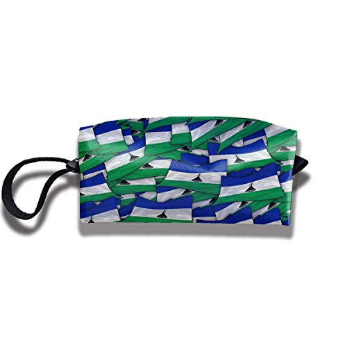 Travel Make-Up Bags Lesotho Flag Wave Collage Women Cosmetic Bag Multifuncition Durable Pouch Zipper Organizer Bag