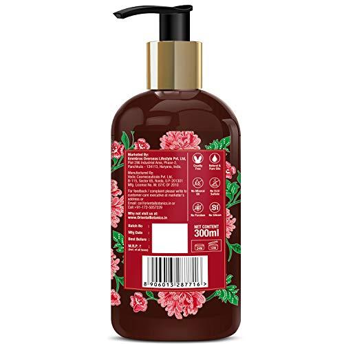 Oriental Botanics Red Onion Hair Shampoo, 300ml - With Biotin, Argan Oil, Caffeine, Protein, 27 Hair Boosters Controls Hair Loss & Supports Healthy Hair Growth
