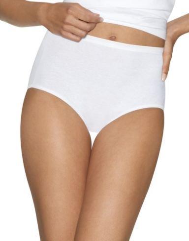 Hanes Damen Baumwolle Comfort Slip alle weiß 4er Pack Ultimate (Hanes Baumwoll-slip)
