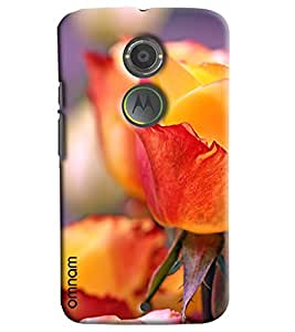 Omnam Yellow Rose Flower Close Up Printed Designer Back Cover Case For Motorola Moto X2