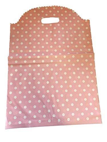 ung Qualität Mode Rosa polka dots gepunkteter aufdruck Kunststoff Tragetaschen für shops, Boutiquen, märkte, party taschen - von Fett-Catz-Kopie-catz - klein rosa polka dots, S: 30cmx25cm,M: 36cmx30cm L: 40cmx35cm, S: 30cmx25cm,M: 36cmx30cm L: 40cmx35cm ()