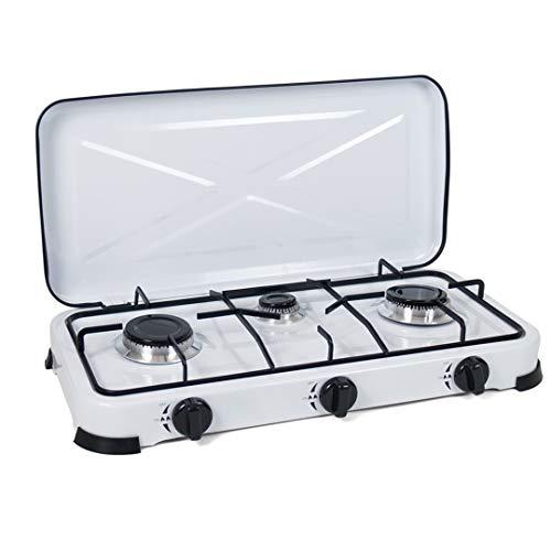 Cocina de Gas portatil 3 Fuegos Camping terraza Jardin para propano y...