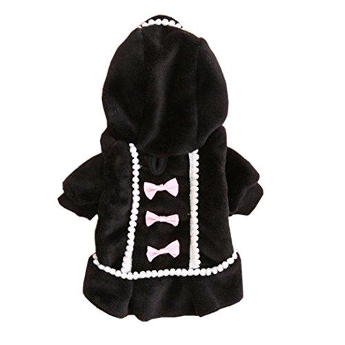 Komisch Hund Kleidung Bovake 2017 Neue Hundekleidung Jacket Haustierbedarf Kleidung Winter Bekleidung Puppy Kostüm (XS, Black)