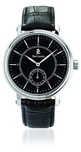 Pierre Lannier 221C133 - Reloj de pulsera hombre, piel, color negro