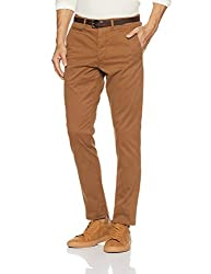 Jack & Jones Mens Cotton Chinos (1968620019_Dark Camel_34W x 32L)