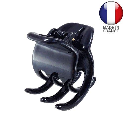 243 – 001 – Pince pour cheveux français cm 3,5 Noir – Pinces pour Cheveux
