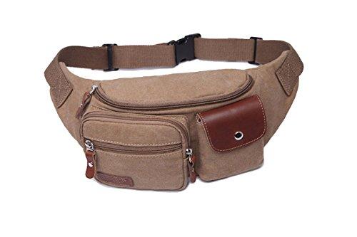 Tasche Multifunzione Di Moda Uomo Multicolore,Red-24*8*14cm Brown