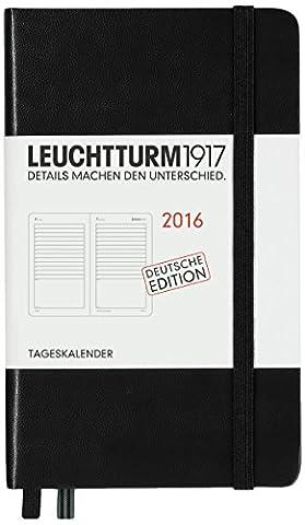 Leuchtturm1917Day Calendar Pocket (A6) black