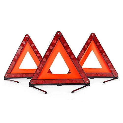 BOEHNER-triangolo-di-sicurezza-Sicurezza-pieghevole-Triangle-Triple-kit-attenzione-attenzione-triangolo-riflettore-strada-pericolo-segno-simbolo-del-triangolo-di-emergenza-Storage-Bag-3-pezzi