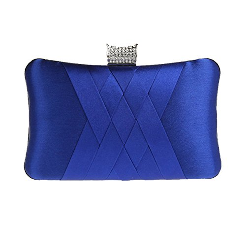 Aronvivi , Damen Clutch grau grau Einheitsgröße königsblau