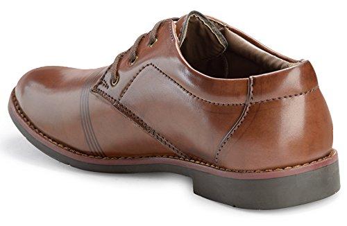 Adreno derby formel chaussures bureau hommes portent la taille faux de cuir disponibles Marron