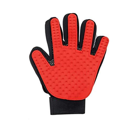 Haustierbürste Handschuhe, Katzenpflege, Haustierbedarf Katzenhaarentfernungsbürste Katzenhaarreiniger (größe : Linke Hand)
