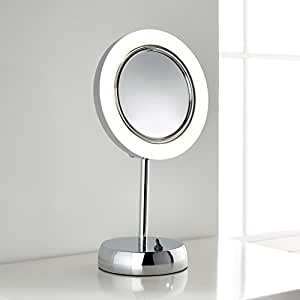 Sara Freestanding LED Magnifying Vanity Mirror - for Bathroom, Bedroom or Dressing Room