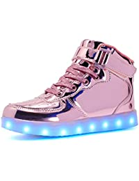 Voovix LED Enciende para Arriba los Zapatos para los Muchachos y las Muchachas