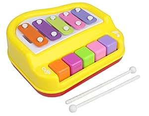 Toyshine Musical Xylophone and Mini Piano, Non Toxic, Non-battery