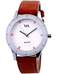 Watch Me Analog White Dial Stainless Steel Metal Strap Girls And Women's Watch WMAL-044new