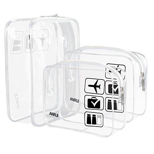 ANRUI, Trousse de Toilette, Transparent (Transparent) - TB-R1-transparent-3pcs