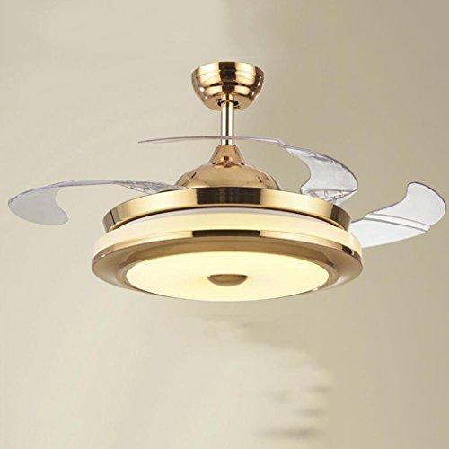 Fanjiani luci ventilatore a soffitto invisibile ristorante soggiorno ventilatore luce camera da letto ventilatore elettrico lampada lampadari ventilatore elettrico domestico ( colore : d , dimensioni : 42 inches )